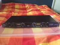 Art TPS II Tube Preamplifier, 2 channel, Variable input impedance, Great for recording.