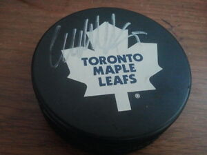 Maple Leafs Hockey Puck Signed NHL