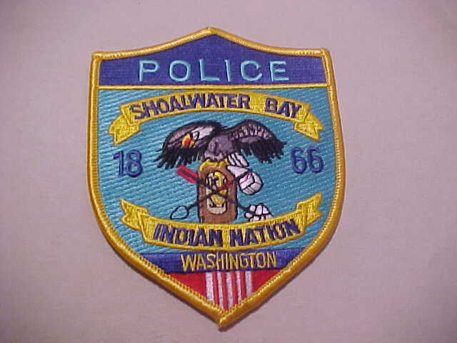 TRIBAL SHOALWATER BAY WASHINGTON ISSUE POLICE PATCH UNUSED