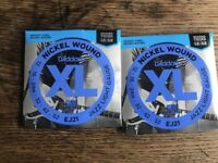 Two Sets, Brand New - D'Addario EJ21 Nickel Wound Electric Guitar Strings, Jazz Light, 12-52