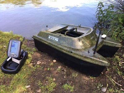 Anatec Catamaran Devict Oak Bait Boat + Toslon TF640 Finder & GPS