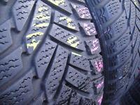 205/55/16 Dunlop M3, Runflat, BMW, Winter x2 A Pair, 6.6mm (168 High Road, Romford, RM6 6LU) Used
