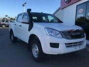 2014 Isuzu D-MAX MY14 SX Crew Cab White 5 Speed Sports Automatic Cab Chassis Pialba Fraser Coast Preview
