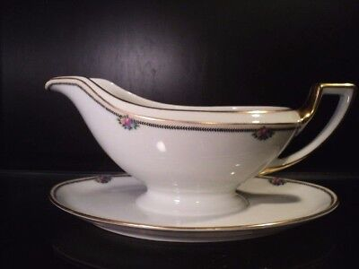 THOMAS Bavaria (Rosenthal) china ROSE POINT pattern Gravy Sauce Boat Edwardian