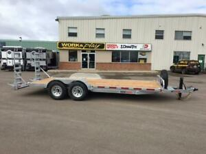 "NEW 2019 K-TRAIL 80"" x 20' HD GALVANIZED EQUIPMENT TRAILER"