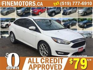 2015 FORD FOCUS SE * LEATHER * NAVIGATION * BACK UP CAM