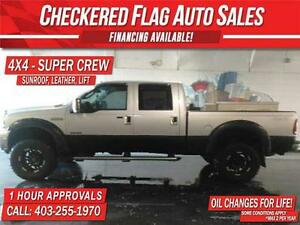 2005 Ford F350 DIESEL 4x4 LARIAT SUPERCREW-SUNROOF-LEATHER-LIFT