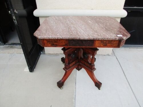 *SALE* 19TH CENTURY EASTLAKE AESTHETIC VICTORIAN TENNESSEE MARBLE PARLOR TABLE