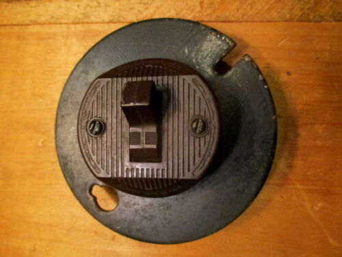 Vintage Brown Bakelite Leviton Electric Switch Industrial Toggle Switch