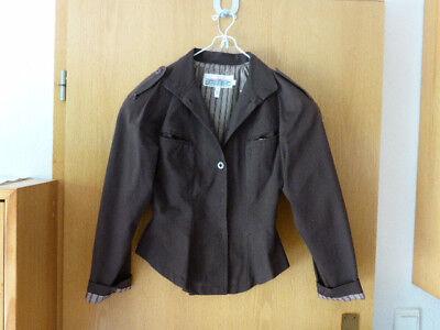 Kostüm Kombi Hose Rock Blazer Jacke dunkelbraun S - Retro Rock Kostüm