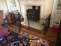 Babydan XL Fire hearth safety gate / room divider with gate excellent condition