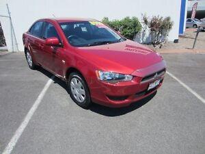 2010 Mitsubishi Lancer CJ MY11 ES Red 6 Speed Constant Variable Sedan Buderim Maroochydore Area Preview