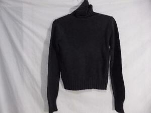 CLUB MONACO, size small, 100% cotton, beautiful stylish, trendy charcoal gray pullover turtleneck sweater *IMPERFECTION*