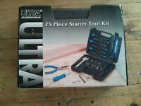 Ultra Steel® 25-Piece Starter Tool Set - Excellent Gift!