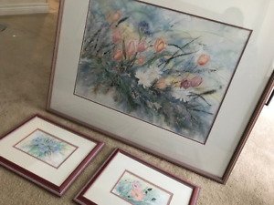 LOT - 2 Watercolor Originals and 1 - Print by Sibylle H-Rett