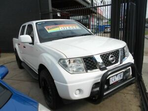 2014 Nissan Navara D40 S8 RX 4x2 White 6 Speed Manual Dual Cab Fawkner Moreland Area Preview