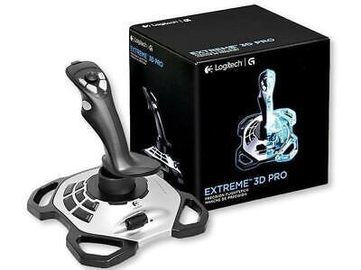 New Logitech Extreme 3D Pro Gaming Joystick (963290-0403) - Silver Black - (C1)
