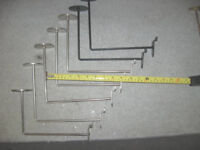 Hooks with round ends for slat wall