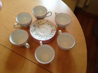 Johnson Summer Chintz - tea cup and saucer set; never been used