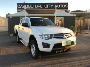 2012 Mitsubishi Triton MN MY12 GLX White 4 Speed Automatic Double Cab Utility Morayfield Caboolture Area Preview