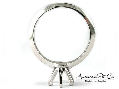 Palladium Round Diamond Engagement Ring Solitaire Setting