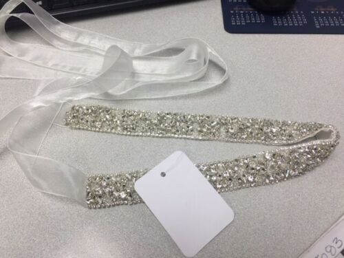 Brand New $250 BHLDN A.B. Ellie Valeria Bridal Sash Belt, OSFA, Ivory Sash