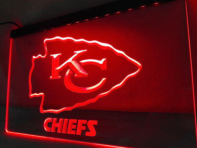 Kansas City Chiefs Neon RED LED Sign Light Man Cave Banner NO DROP SHIP FAST - Neon Banner