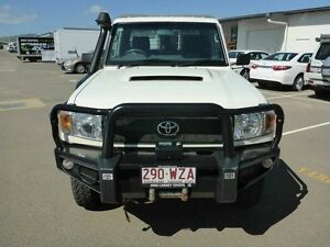 2011 Toyota Landcruiser VDJ79R MY10 Workmate White 5 Speed Manual Cab Chassis Vincent Townsville City Preview
