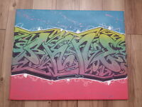 Graffiti canvas sale 5 to pick from