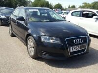 BREAKING FOR PARTS AUDI A3 1.9TDI 5 SPEED MANUAL 2009 BLACK/BLUE
