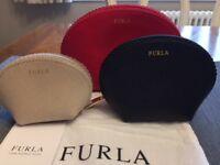 Genuine (unused) Furla cosmetic case set.