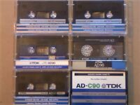 JL RARE TDK AD 90 & 120 ACCOUSTIC DYNAMIC CASSETTE TAPES 1979-1989 JOB LOT OR SOLO SALES AD90 AD120