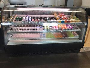 "True TCGR-77 77"" Stainless Steel Glass Display Refrigerator"