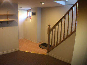 Bach-type bsmt apt with sep kitchen, laundry, near TTC, shops