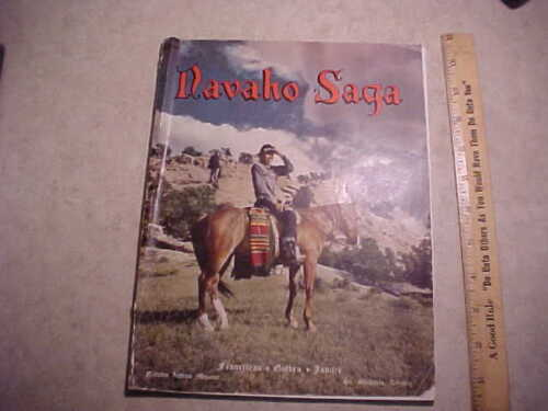 Book-Navaho Saga-1949 Franciscan-Navaho Golden Jubilee-St. Michaels Arizona AZ