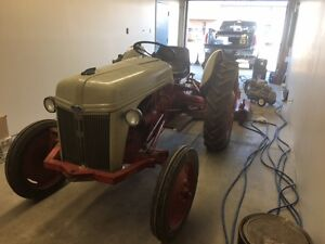 1948-8N Ford Tractor and Farm King Mower