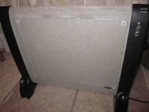 1500-watt micathermic flat-panel heater for silent heating