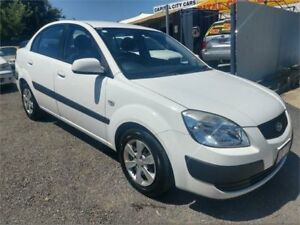 2009 Kia Rio JB EX White 5 Speed Manual Sedan
