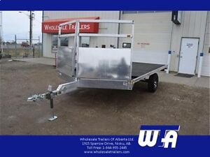 ALL NEW - H&H All Aluminum Flatdeck Snowmobile Trailers!