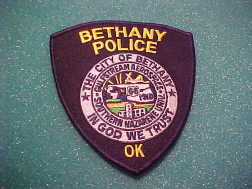 BETHANY OKLAHOMA POLICE PATCH SHOULDER SIZE UNUSED