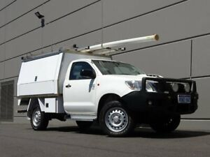 2014 Toyota Hilux KUN26R MY14 SR White 5 Speed Automatic Cab Chassis Maddington Gosnells Area Preview