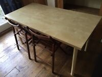 1x Dining Table & 4x Folding Chairs