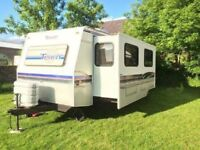 American caravan and iveco truck