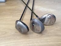 Golf - 3 x Clubs for Sale inc driver; 3 & 4 wood