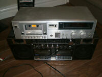 Vintage Technics and Sony Cassette Deck