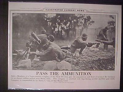 Vintage Newspaper Headline World War 2 Us Negro Soldiers Battle Italy Nazis Wwii