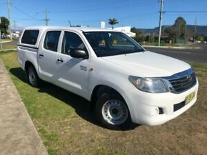 2013 Toyota Hilux GGN15R MY12 SR White 5 Speed Automatic Dual Cab Pick-up Dapto Wollongong Area Preview