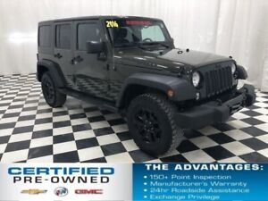 2016 Jeep Wrangler Unlimited Willys Wheeler 4 Door - 2 Tops