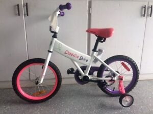 Like New Doodle Bike (16 inch with training wheels)