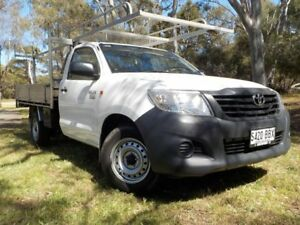 2014 Toyota Hilux TGN16R MY14 Workmate 4x2 5 Speed Manual Cab Chassis Pooraka Salisbury Area Preview